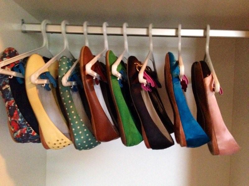 необычное хранение обуви