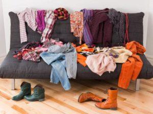хранить одежду и обувь